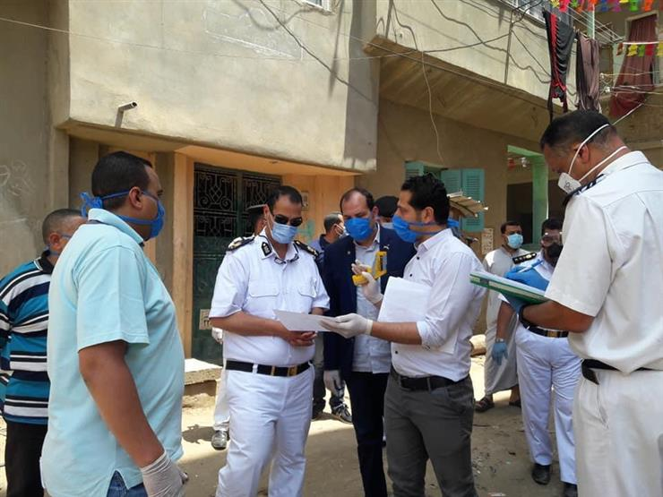 صورة الجهات المعنية تعزل 500 أسرة بإحدى قرى المحلة الكبرى بسبب انتشار فيروس كورونا