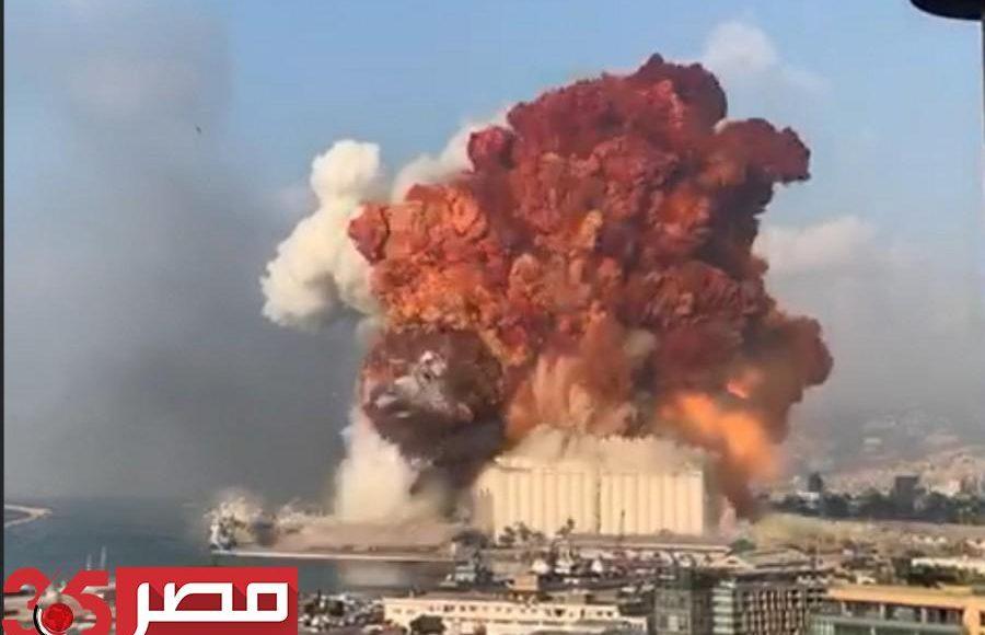 انفجار ضخم يهز العاصمة اللبنانية بيروت بالكامل